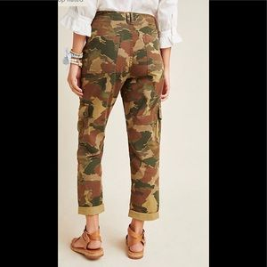 Anthropologie Camouflage Cargo Pants